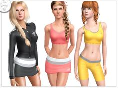 Icia23's Sims 3 Downloads Best Sims, Sims 1, Sims Community, Adidas Sport, Athletic Wear, Outfits For Teens, Outfit Sets, Female Clothing, Clothing Sets