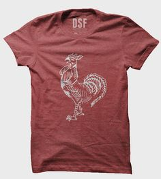 It's true! Sriracha goes perfectly with everything, especially this graphic tee printed with the majestic Asian hot sauce rooster. Slim fit t-shirt is made up of 100% ring spun cotton.