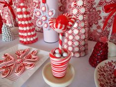 Christmas Dessert Table - Red & White SWEET DREAMS! - Party Planning - Party Ideas - Cute Food - Holiday Ideas -Tablescapes - Special Occasions And Events - Party Pinching
