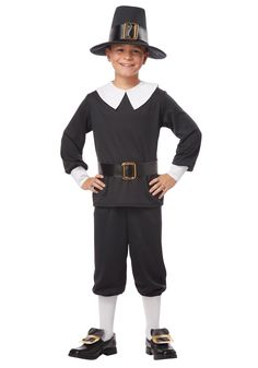 Pilgrim costumes udderlysmooth thanksgiving udderly smooth child pilgrim boy costume by california costumes small size small size black solutioingenieria Image collections