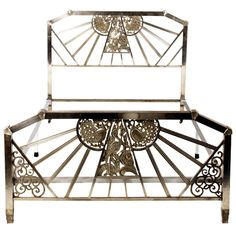 art deco peacock bedframe | From a unique collection of antique and modern beds at http://www.1stdibs.com/furniture/more-furniture-collectibles/beds/