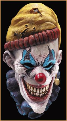 Insano The Clown Latex Creepy Head Halloween Scary Mask Costume Horror Theater Clown Scare, Evil Clown Mask, Gruseliger Clown, Joker Clown, Clown Faces, Creepy Clown, Evil Clowns, Scary Mask, Insane Clown