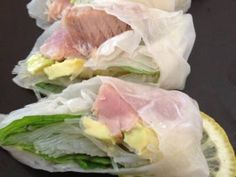 Tuna Avocado Summer Rolls