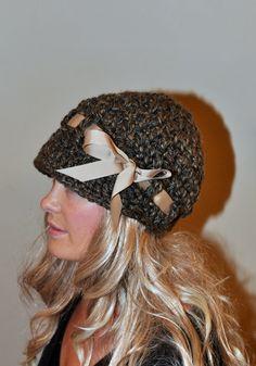 Ala sombrero ala Beanie vendedor de periódicos gorro cebada Brown elegir COLOR Crochet invierno mujer femenina regalo bajo 50