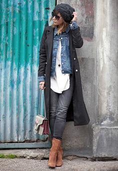 Boots 156289049548457357 – Et ben ça y est … On y est ! On se les gèle opti… Denim Fashion, Look Fashion, Fashion Outfits, Womens Fashion, Fall Winter Outfits, Autumn Winter Fashion, Mode Outfits, Casual Outfits, Estilo Jeans