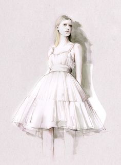 50 Amazing Fashion Sketches | Cuded Fashion sketches by Caroline Andrieu