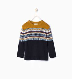 Jacquard knit sweater from Zara Boys