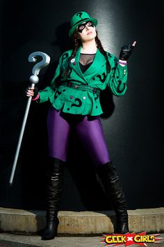 Geek Girls Lady Riddler Cosplay                              …