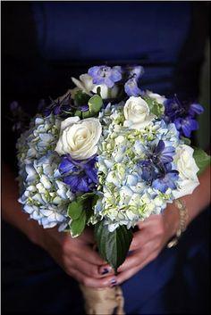 Rosa, Hydrangea,my bouquet idea with some soft orange roses