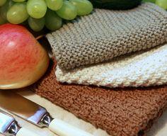 Opskrift på hvordan du strikker karklude af den lækre, bæredygtige, økologiske slags. Hvor finder du garnet? Hvordan gør du?