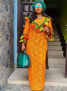 Latest African Fashion Dresses, African Dresses For Women, African Print Dresses, African Women, Ankara Dress Designs, Kaftan Designs, Lace Gown Styles, Maxi Styles, African Wedding Attire