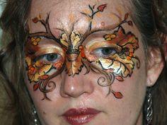 Autumn Fairy Makeup Autumn Fairy Mask by Metzpah Fairy Costume Makeup, Haloween Makeup, Fairy Makeup, Mask Face Paint, Fairy Hair, Fantasy Figures, Autumn Fairy, Dramatic Makeup, Face Painting Designs
