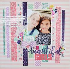 Echo Park Once Upon a Time, Princess collection Friend Scrapbook, Baby Scrapbook, Travel Scrapbook, Scrapbook Paper Crafts, Scrapbook Cards, Scrapbook Layout Sketches, Scrapbooking Layouts, Scrapbooking Pas Cher, Scrapbook Generation