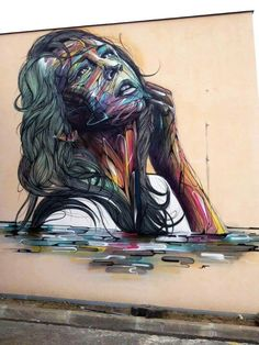 artist Hopare, in Orsay, France
