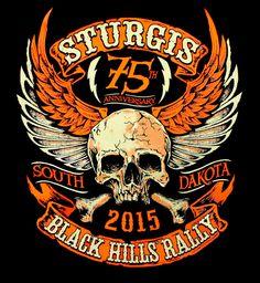 BikerOrNot Store - 2015 Sturgis Rally -  Winged Skull T-shirt, $18.97 (http://store.bikerornot.com/2015-sturgis-rally-winged-skull-t-shirt/)