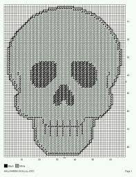 Image result for plastic canvas skull patterns