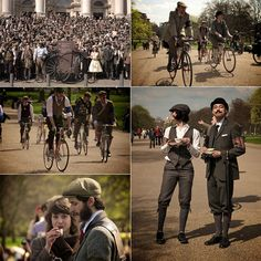 Tweed Run 2010. Sartorial gents and ladies gather in Chelsea for a ride around London. Why have I not heard about this???!!!?