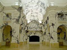 Black Cloud 01 / 2009. Espacio AV. stunning installation by Carlos Amorales #installation