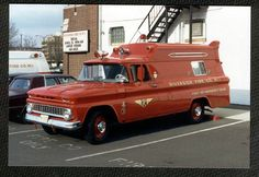 Riverside Fire Company First Aid Emergency Squad 1960s Chevrolet Carry-All/Unk Ambulance.