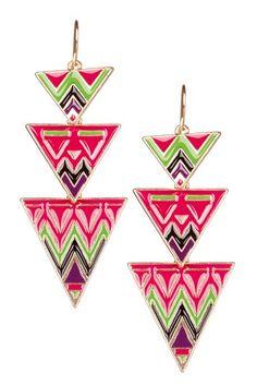Meghan LA Aztec Earrings by Jewelry Blowout on @HauteLook