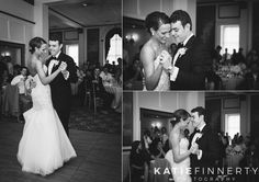 Bride and room share the first dance at their elegant wedding reception at the Inn on Broadway, downtown Rochester, NY.  Photos by Rochester wedding photographer Katie Finnerty. http://www.katiefinnertyphotography.com/blog/2015.9.17.inn-on-broadway-rochester-wedding-clare-drew