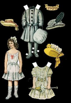Old Fashioned Paper Doll Paper Dolls