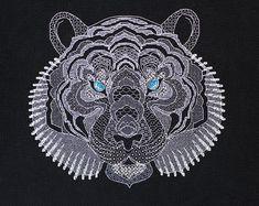 Bead embroidery cross stitch kits ribbon by needlepointkit on Etsy Beaded Cross Stitch, Modern Cross Stitch, Cross Stitch Kits, Cross Stitch Embroidery, Ribbon Embroidery, Embroidery Patterns, Rainbow Roses, Needlepoint Kits, Cross Stitching