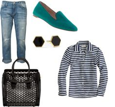 """""""Stripes and Suede"""" by leela-hamilton on Polyvore"""