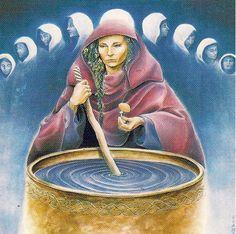 A Deusa Cerridwen. Ilustração de Hrana Janto.