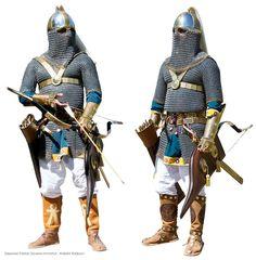 This is a representation of a fast moving, medium armored Sassanian Savaran Cavalry Elite.