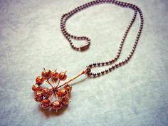 Collar de Hiedra Botánico. Collar de cobre por Amanur en Etsy