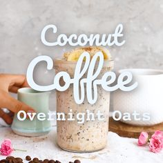 Coffee Overnight Oats These Coconut Coffee Overnight Oats are a tasty breakfast treat that will keep you going throughout the day.These Coconut Coffee Overnight Oats are a tasty breakfast treat that will keep you going throughout the day. Healthy Breakfast Recipes, Healthy Recipes, Healthy Breakfasts, Breakfast Smoothies, Eating Healthy, Healthy Snacks, Clean Eating, Overnight Oatmeal, Overnight Breakfast