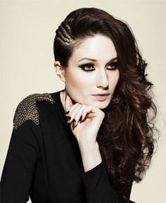 Braided Glam Punk (love your hair, side swept braids, black and brown mix, beautiful and elegant curly hairstyle) Night Hairstyles, Side Swept Hairstyles, Great Hairstyles, Creative Hairstyles, Latest Hairstyles, Wedding Hairstyles, Goth Hairstyles, Casual Hairstyles, Hair Styles 2014