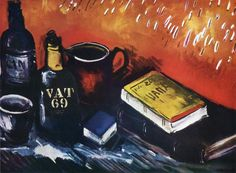 Maurice De Vlaminck Still Life With Books And Bottles