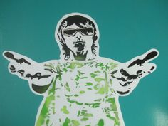Ian Brown paintingstencil artspray by AbstractGraffitiShop on Etsy