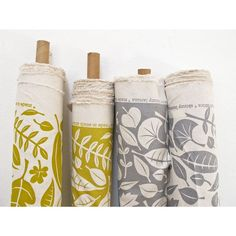 Fabric by the metre  Leaves by skinnylaminx on Etsy, $65.00