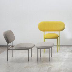 Low Chair & Ottoman - Grey by Nina Tolstrup for 19 Greek Street   MONOQI #bestofdesign