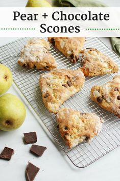 If you're in need of a tasty wintertime (or anytime!) treat, try these pear and chocolate scones. They take only 30 minutes from start to finish, and are...