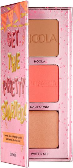 1c0d6033eb9 Benefit Cosmetics Get The Pretty Started! Bronze, Blush, & Highlight  Palette for holiday 2017 (affiliate link)
