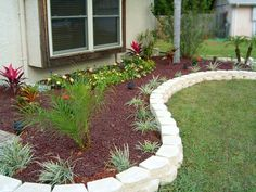 Edging landscaping idea.
