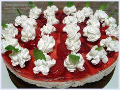 ÍZVARÁZS-LAT: Epres mascarpones torta Evo, Pudding, Desserts, Tailgate Desserts, Deserts, Custard Pudding, Puddings, Postres, Dessert