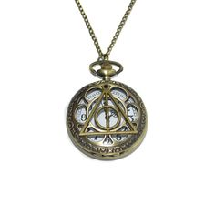 CustomJewels.nl - Harry Potter Deathly Hallows horloge ketting