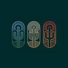 Follow us  @logoinspirations Cactus Badges by @neighborhood_studio -  http://ift.tt/2geIf0d -  BEAUTIFUL HOTELS  @travelbranding @travelbranding