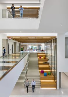 University of North Dakota School of Medicine + Health Sciences – 0 – Educational Architecture Library Architecture, Stairs Architecture, Education Architecture, School Architecture, Modern Architecture, Atrium Design, Corridor Design, Lobby Design, University Interior Design