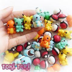 Pokemon Polymer Clay Charms Cute Kawaii by MadeByTokiToki on ...