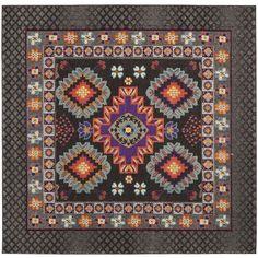 Safavieh Monaco Brown/ Multi Rug (6'7 Square)
