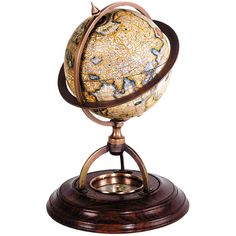 Authentic Models Terrestrial Globe with Compass ($100) ❤ liked on Polyvore featuring home, home decor, bronze, authentic models globe, authentic models and bronze home decor