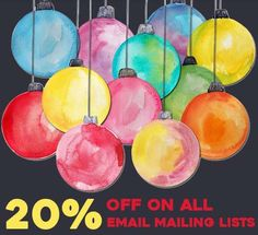 Have a joyous Christmas celebration by affording Discount on Email Mailing Lists from Email Listz & increase your dealing with potent clients. Joyous Celebration, Christmas Sale, Quilling, Water Colors, Bedspreads, Quilting, Paper Quilling