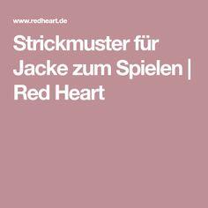 Strickmuster für Jacke zum Spielen | Red Heart