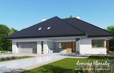 Projekt domu Neptun IV , wizualizacja 1 House Layout Plans, Family House Plans, House Layouts, Beautiful House Plans, Beautiful Homes, Modern Bungalow, Concept Home, Home Fashion, Building A House